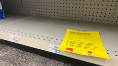 'Stay informed on the coronavirus' at the CVS Pharmacy on Central Ave. and McDowell Road in Phoenix on Feb. 28, 2020.