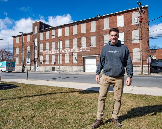 Real estate developer Bryan Donovan is hoping turn the Paper Box building into a hub for business and community, February 27, 2020.
