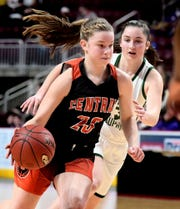 Central York's Sarah Berman, seen here in a file photo, had 14 points in the Panthers' state playoff win.