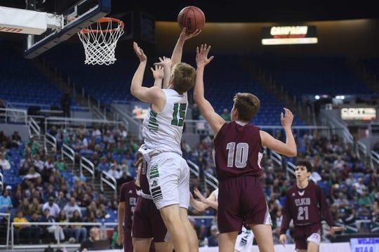 Fallon defeats Elko to win the NIAA 3A Boys Basketball championship at Lawlor Events Center in Reno on Feb. 28, 2020.