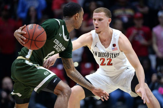 San Diego State's Malachi Flynn (22) is a Mountain West player of the year candidate.