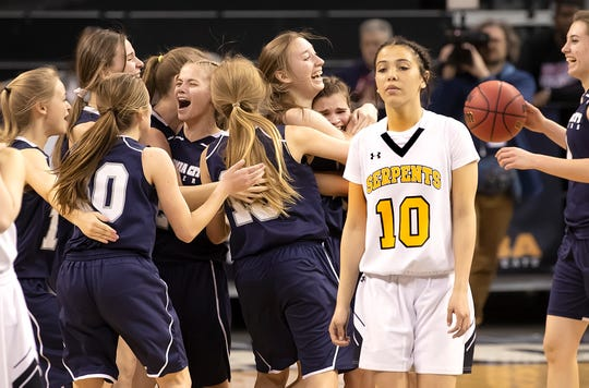 Virginia City won the 1A girls basketball state championship in February.