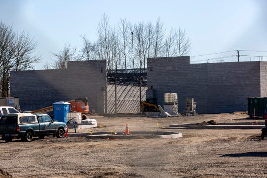 Construction on Main St. SE in Monmouth on Feb. 28, 2020. Roth's Fresh Markets is expected to finish by May 2020.