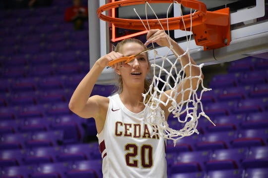 When considering Cedar's super team, the player that stuck out the most this season was Weaver. Playing with undeterred confidence and an almost unparalleled basketball IQ, Weaver hit over 50 percent of her 3-point attempts, led the Reds in rebounding and had a penchant for clutch plays. Cedar coach Corry Nielsen said Weaver is the best player in the state, and it's hard to disagree with him.