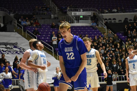 Noah Lemke, Dixie's best big man, committed to play college basketball very close to home.