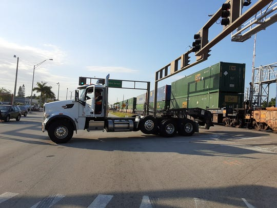 Several streets in the downtown area of Vero Beach were blocked on February 29, 2020, for a train collision with a tractor trailer