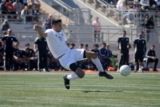 Enrique Tiscareno scored a goal in Channel Islands' 2-0 win over Torrance-North in a state regional first-round match Tuesday.