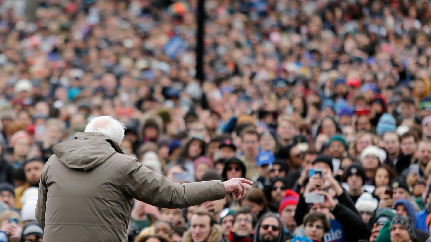 More than 10K turn out for Bernie Sanders rally in Elizabeth Warren'sbackyard