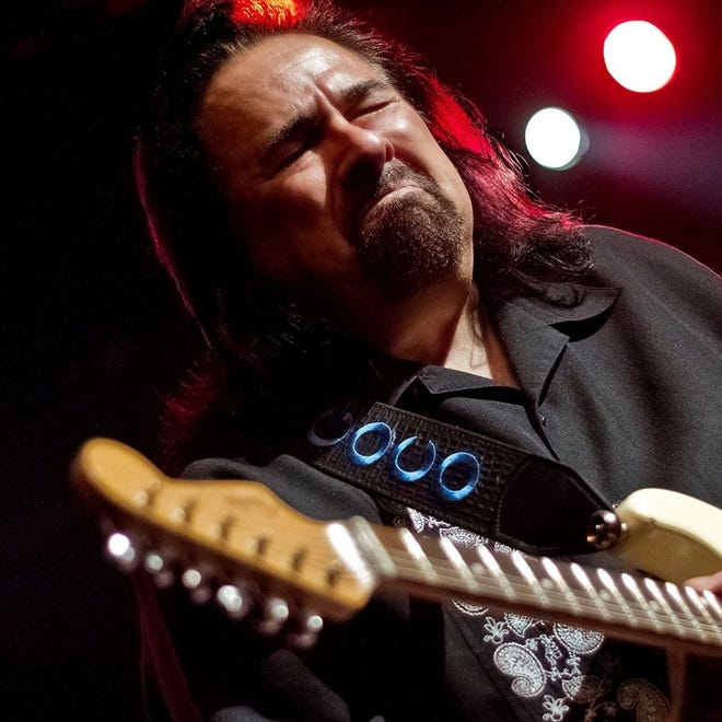 "Coco Montoya will make his fourth appearance at the Admiral for the ""Bourbon & Blues"" benefit concert."