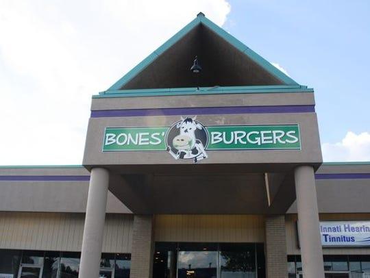 Bones' Burgers in Montgomery, at 9721 Montgomery Road in Montgomery.