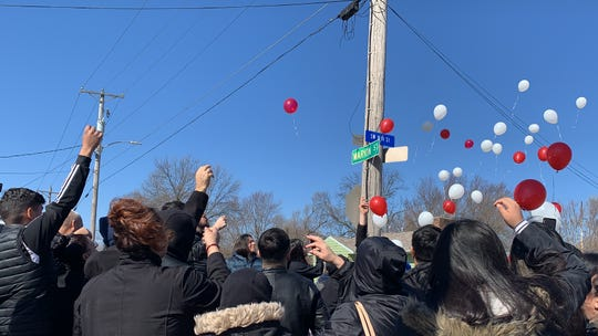 Family and friends of Mauricio Ruiz Quintana and Brayan Martinez Ruiz release balloons during a vigil Saturday, Feb. 29, 2020, in memory of the two men killed in Des Moines crash last week. Police say excessive speed was a factor in the deadly collision and a 23-year-old man has been charged with vehicular homicide.