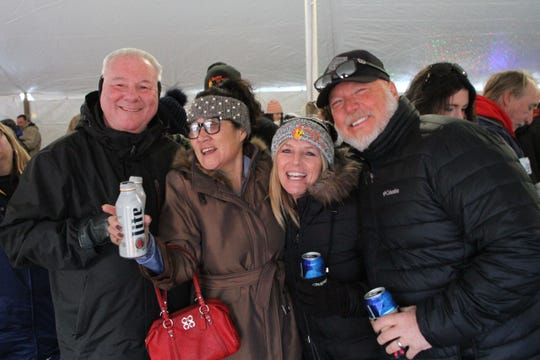 The Burning Snowman Festival 2020 drew thousands of partyers for a variety of festivities held throughout the day Saturday, leading up to the torching of a 40-foot-tall snowman after dark.