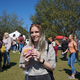 Staff Writer Morgan Nystrom partakes in the festivities and enjoys a vegan burger at the North Florida VegFest.