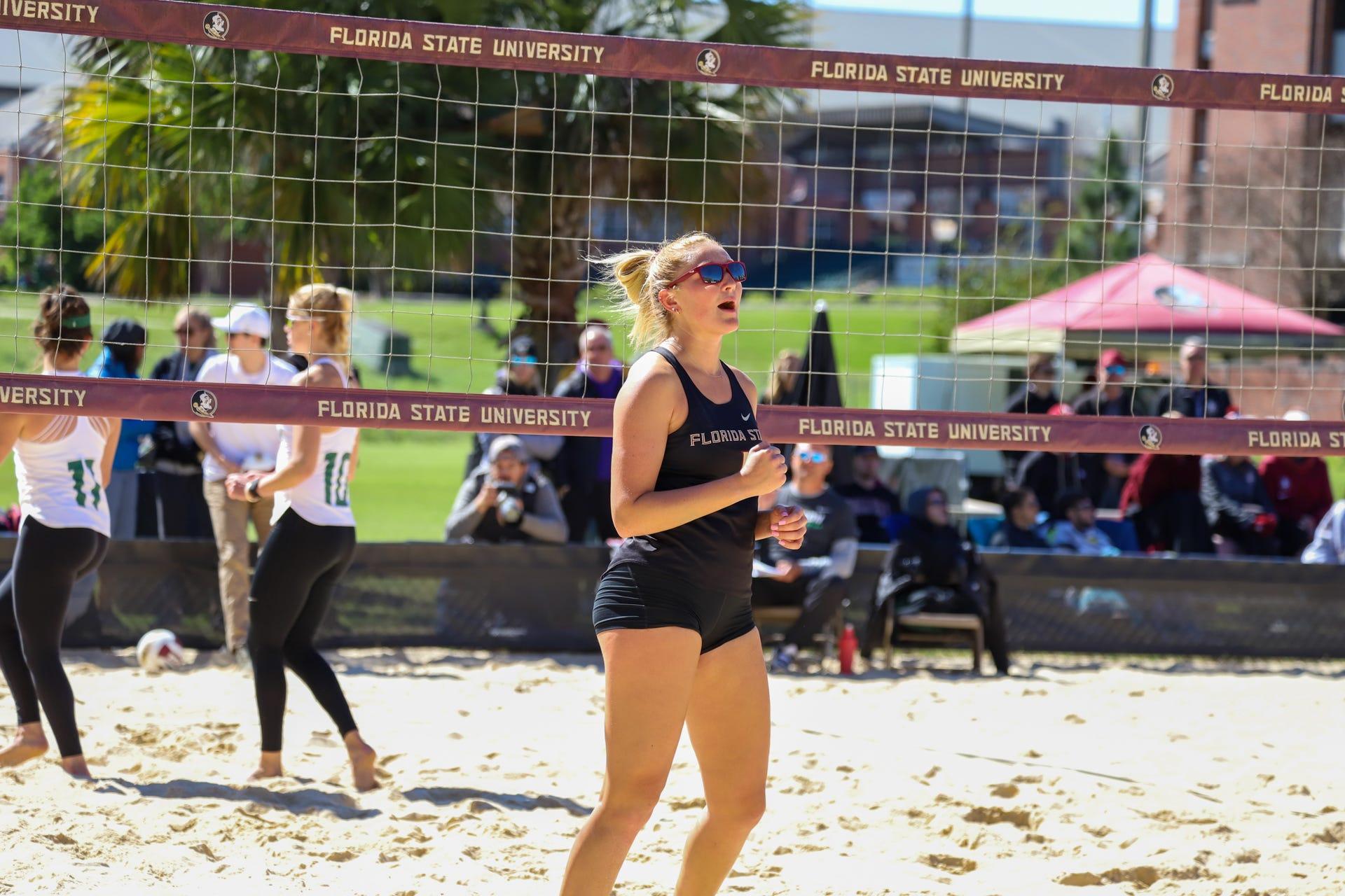 Freshman Maddie Anderson Shines For Fsu Beach Volleyball