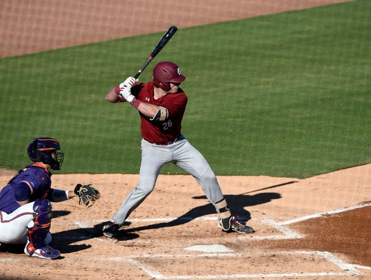 USC's Wes Clarke hit his team-leading fifth home run Saturday as the Gamecocks evened their series with Clemson.