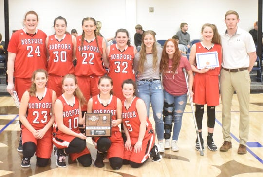 The 1A Region 2 runner-up Norfork Lady Panthers