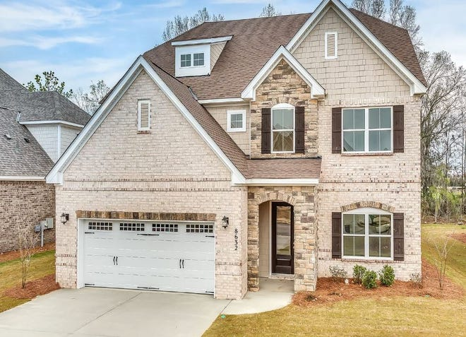 One new Melrose home on Melbourne Circle is for sale for $341,764 and includes five bedrooms and three bathrooms within 3,097 square feet. of living space. The home was completed on Jan. 31.