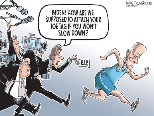 Media and Joe Biden on the run.