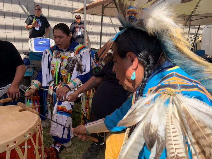 Hundreds attended the second annualTwo Spirit Powwow at South Mountain Community College on Feb. 29, 2020.
