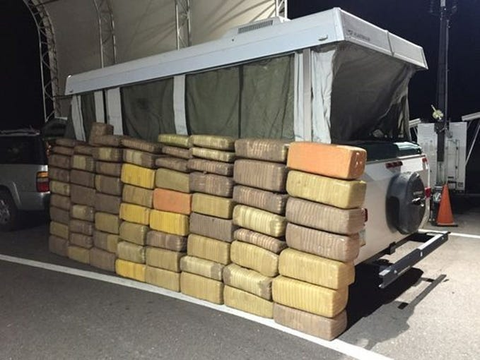 U.S. Customs and Border Protection agents stop thousands of pounds of narcotics from crossing the border. Smugglers have come up with unique and creative ways to evade detection, including sneaking drugs through air-powered cannons, catapults, ultralight aircraft, vehicle ramps and physically throwing them over the wall.