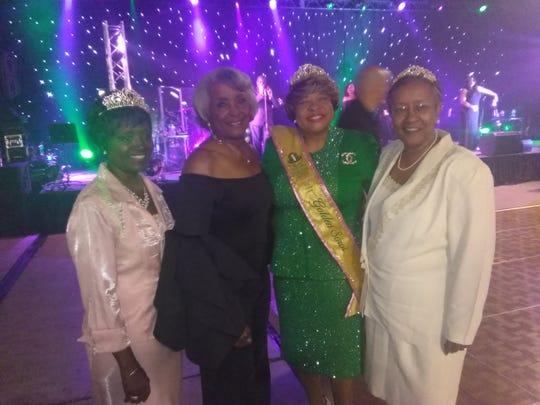 Left to right: Davis, Dr. Freddie G. McClendon , Oguntade and Mrs. Angela C. Richardson. McClendon and Richardson are members of Delta Kappa Omega chapter.