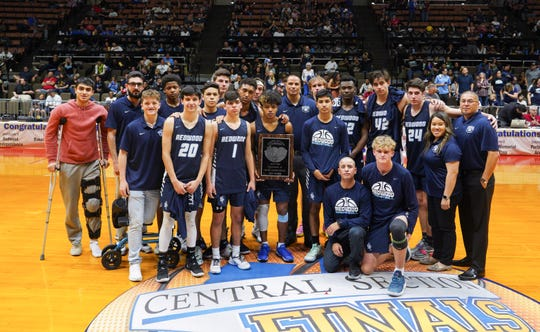 Redwood High basketball ended the season with a 60-45 loss to Independence at the Central Section Division II championship boys basketball game.