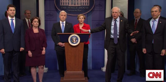 'SNL': Mike Pence takes on coronavirus with 'MAGA' face masks; Democratic contenders object