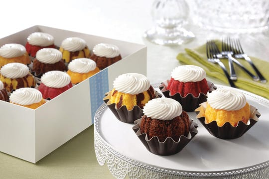 A box of bite-sized cakes from Nothing Bundt Cakes.