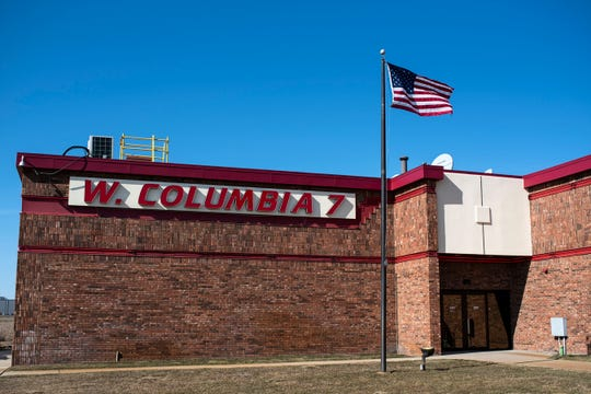 W. Columbia 7 movie theater is pictured on Monday, March 2, 2020 in Battle Creek, Mich. Goodrich Quality Theaters Inc. has filed for Chapter 11 bankruptcy.