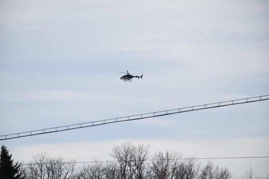 New York State Police used a helicopter Monday in the search for 37-year-old Casie Weese, who was last seen leaving a party with her husband in Apalachin early Sunday morning.