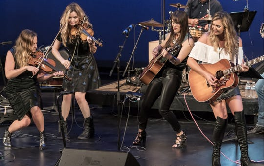 Farewell Angelina deliver their two-fiddles, two-guitar attack behind stunning vocal harmonies.