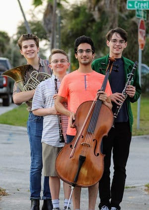 "In the free ""Resident Artistry"" concert on March 8, the Space Coast Symphony Youth Philharmonic Orchestra will accompany competition winners Ethan Hahn on horn, Payton Brown on oboe, Caspian Chaharom on cello and Trevor Frier on clarinet. Visit spacecoastsymphonyyouthorchestra.org."
