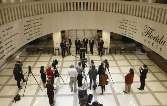 A scene in the Florida Capitol rotunda earlier this session.