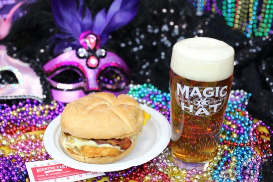 'Kegs and Eggs' an event with beer and brunch from Kountry Kart Deli kicks off the Mardi Gras revelry at Magic Hat Brewing 10 a.m. March 28.