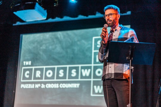 """Zach Sherwin hosts """"The Crossword Show"""" March 8 at ArtsRiot."""