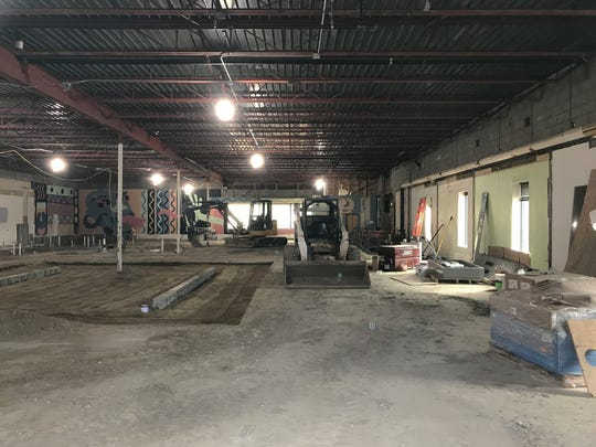 Gut rehab: Interior demolition is underway at the former KeyBank building on Main Street in Winooski on March 1, 2020. The building's plumbing, wiring, heating and cooling and sprinkler systems will be replaced as part of the conversion to Four Quarters Brewing's new home in the Onion City.