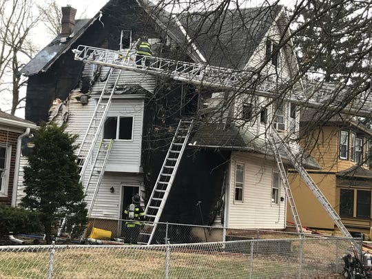 A house in Audubon sustained heavy damage in a Monday afternoon blaze. No one was injured.