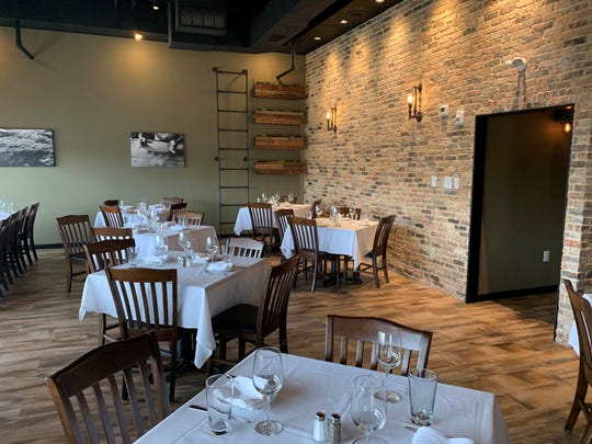 A corner of the new dining room at Bistro di Marino in Washington Township.