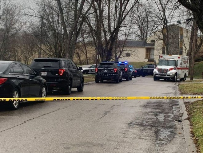 Police are on the scene of a standoff and reported stabbing on Toulon Drive in Springfield Township.