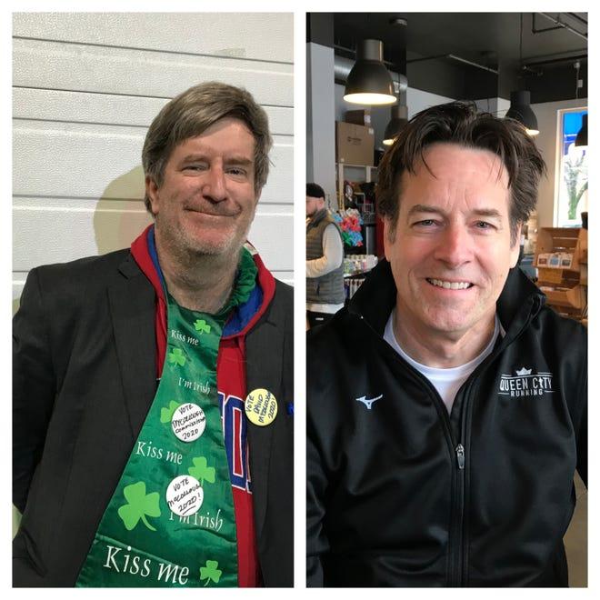 David McCollough(left) and Matt O'Neill(right) are running for the Republican nomination for Hamilton County commissioner