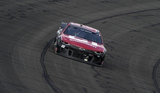 Mar 1, 2020; Fontana, California, USA; Monster Energy NASCAR Cup Series driver Alex Bowman (88) during the Auto Club 400 at Auto Club Speedway.