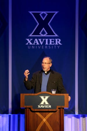 Xavier University president Michael J. Graham S.J. speaks at the university's 2020 Convocation on Monday, March 2, 2020. (Photo provided by Xavier University)