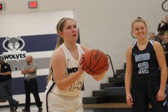 Dakota Reeves steps to the free throw line for West Clermont.