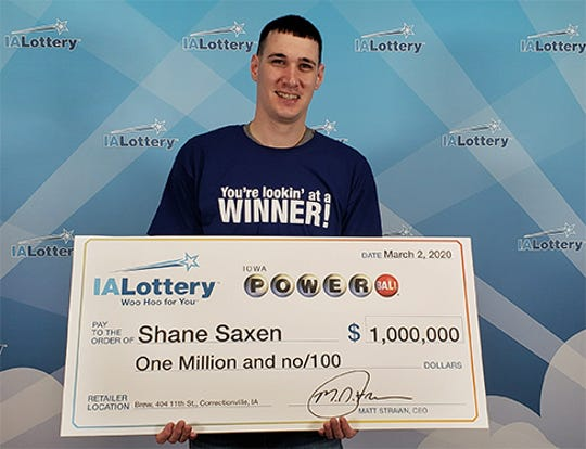Shane Saxen matched five numbers on hit Powerball lottery ticket.