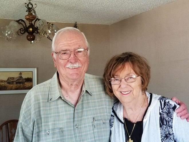 Engineer Robert Taenaka went to visit his former boss and mentor, Bernie Dagarin, pictured here with his wife Fay, at their home in Garden Grove, California in 2019.
