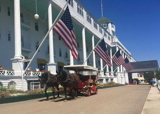 The Grand Hotel on Mackinac Island is photographed in July 2016. The hotel is the site of the Detroit Regional Chamber's annual policy conference.