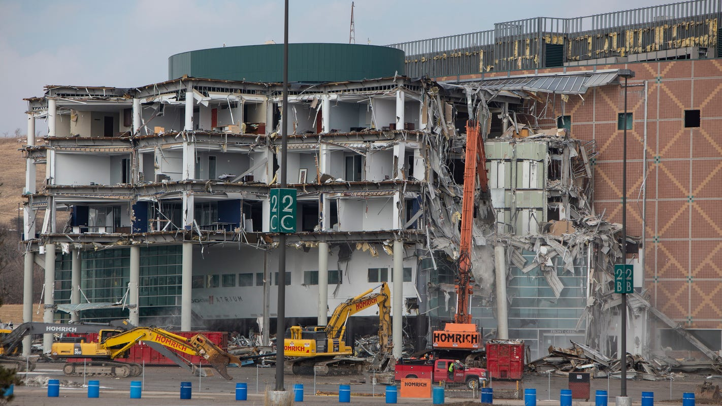 the Auburn at Hills begins of Palace Demolition