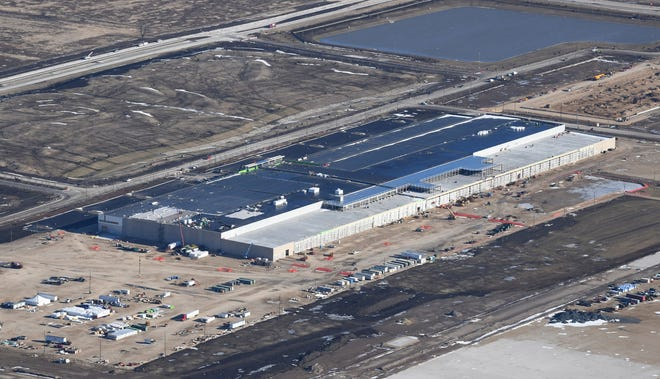 The Foxconn campus is shown under construction on January 6, 2020.