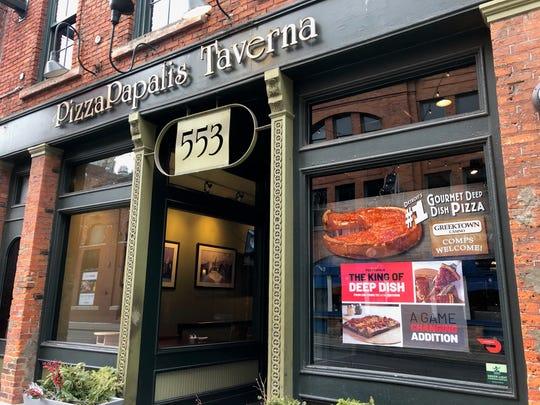 The original PizzaPapalis opened in Greektown in 1986.