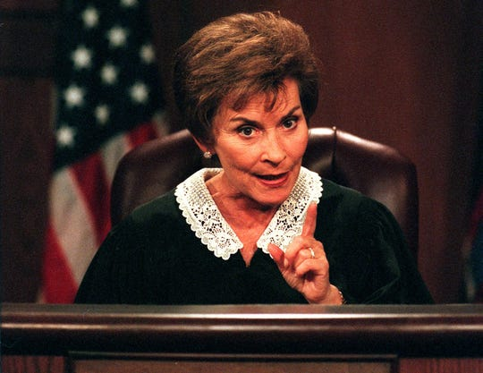 Judge Judy Sheindlin during a taping on July 21, 1999 in Los Angeles, Calif.
